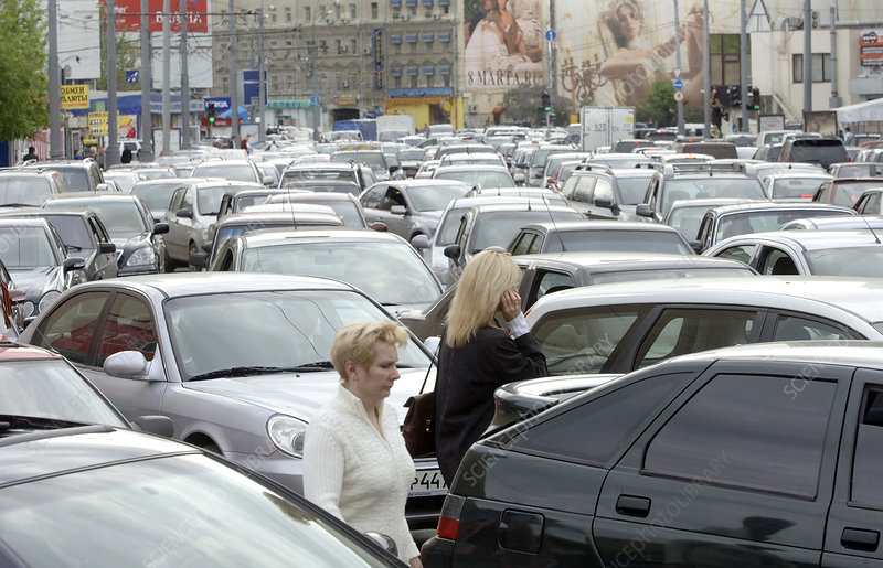 Traffic jam, Moscow