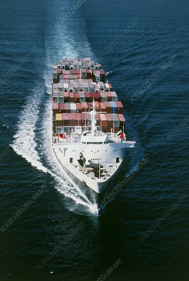 Container ship 'President Grant' at sea
