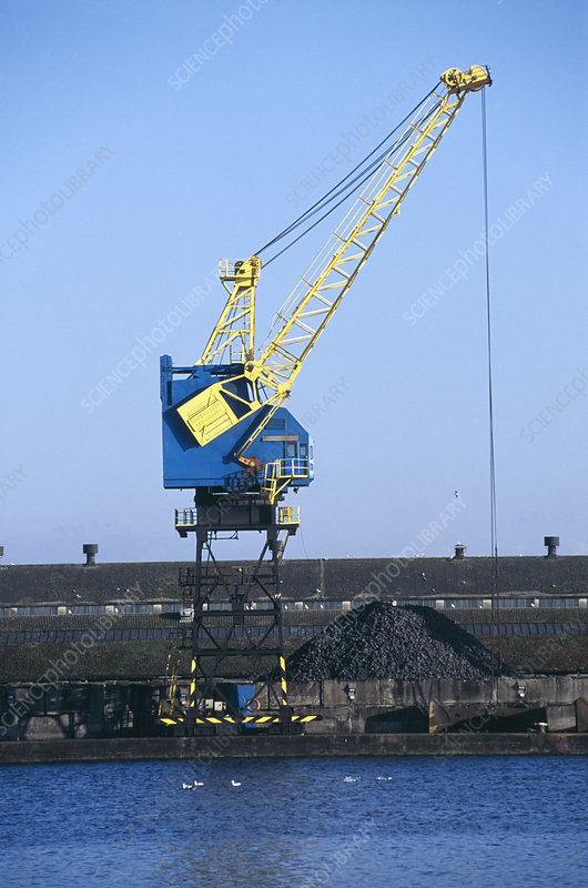 Crane for loading coal