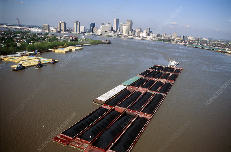 Mississippi River barges at New Orleans