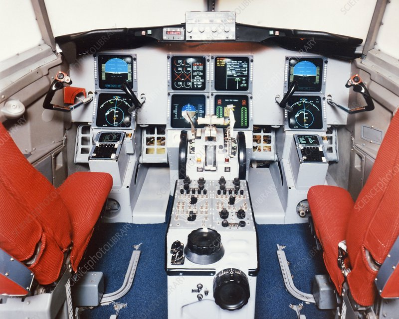 Cockpit of TSRV transport research plane