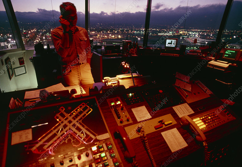 Interior of Air Traffic Control Tower
