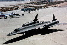 Lockheed SR-71 taxying after landing