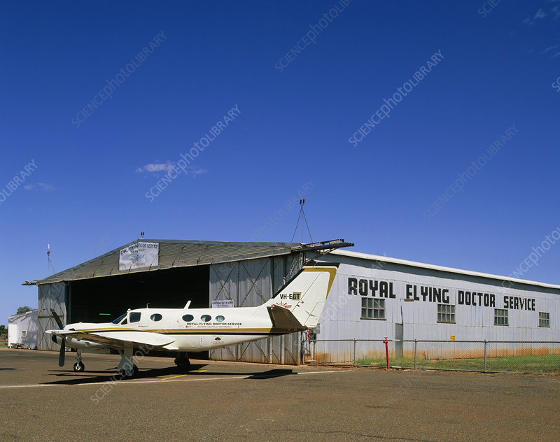 Flying doctor's light aircraft, Australia