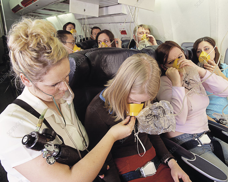 Supplying oxygen on airliner