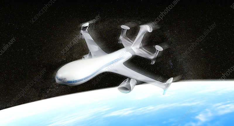 High altitude passenger plane, artwork