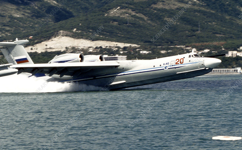 A-40 amphibious aircraft taking off