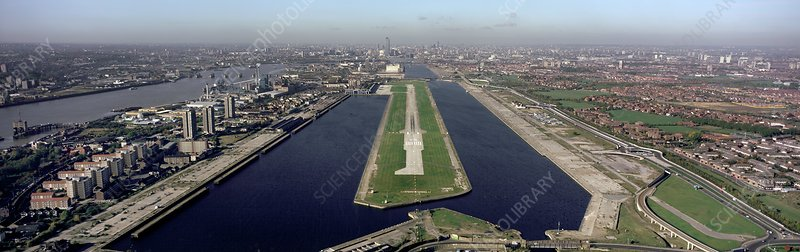 London City Airport, aerial photograph