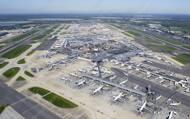 London Heathrow, aerial photograph