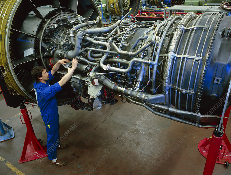 Aeroplane engine assembly