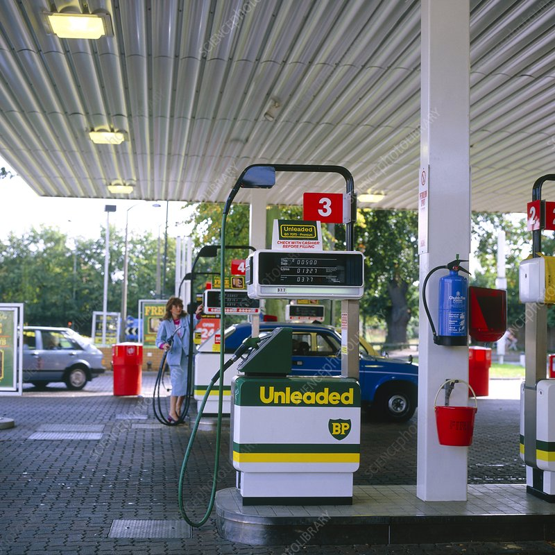Unleaded petrol tank at service station
