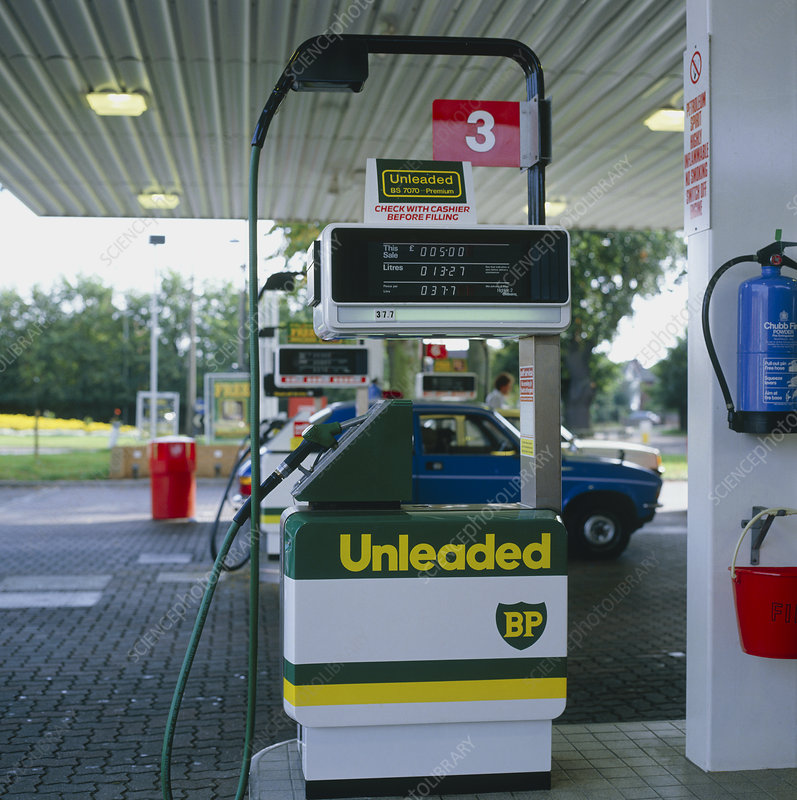 Unleaded petrol tank at Norwich service station