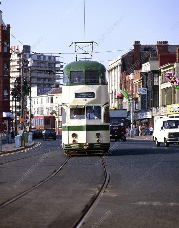Trams in blackpool
