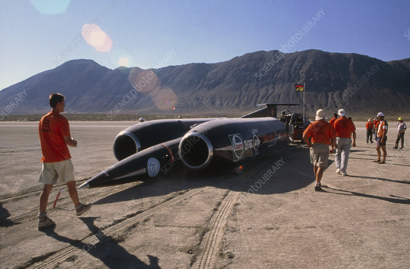 Thrust SSC, the world's first supersonic car