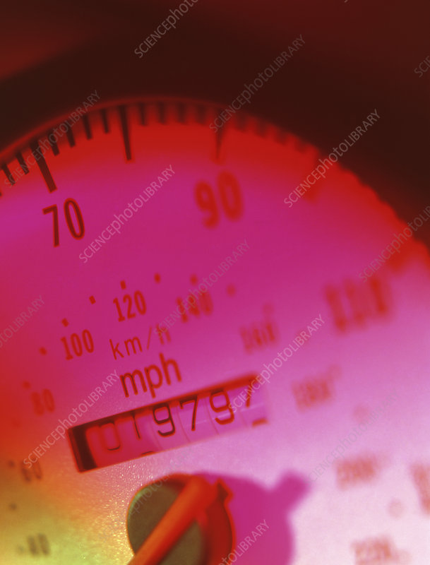 Car speedometer with in-built mileometer