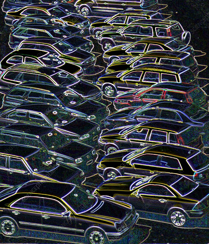 Cars in a car park