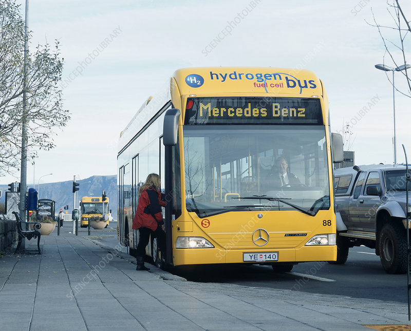 Hydrogen-powered bus