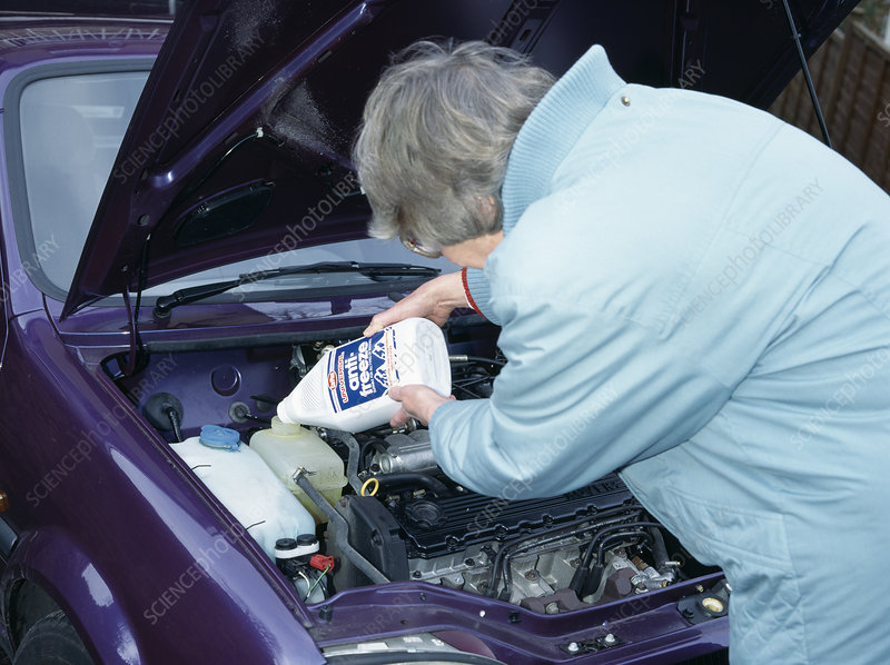 Antifreeze and car engine