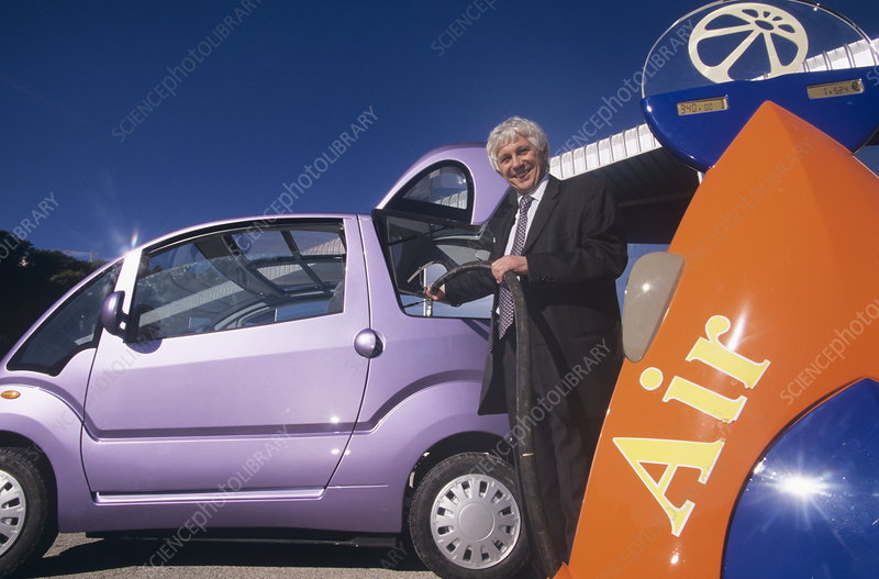 Air car, zero-emission car, with inventor