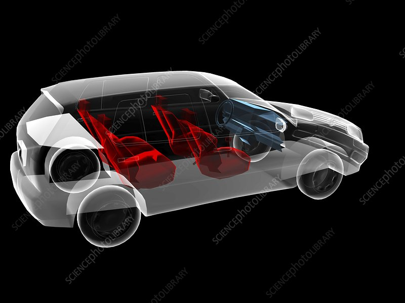 Car, simulated x-ray