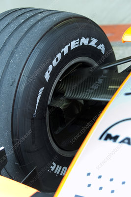 Formula One car brake duct
