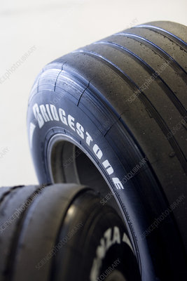 Used Formula One car tyres