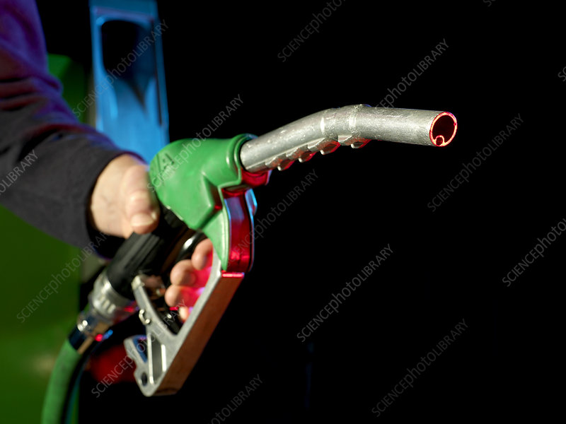 Unleaded petrol pump nozzle