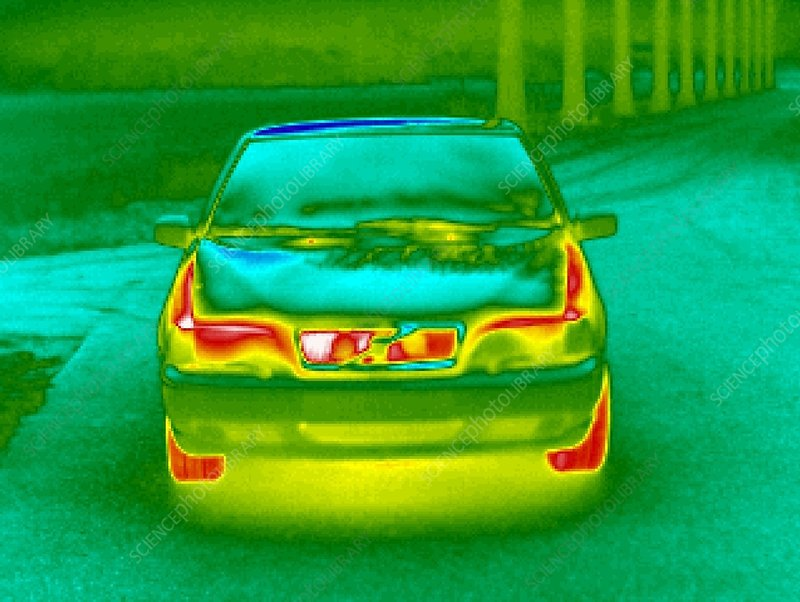 Parked car, thermogram