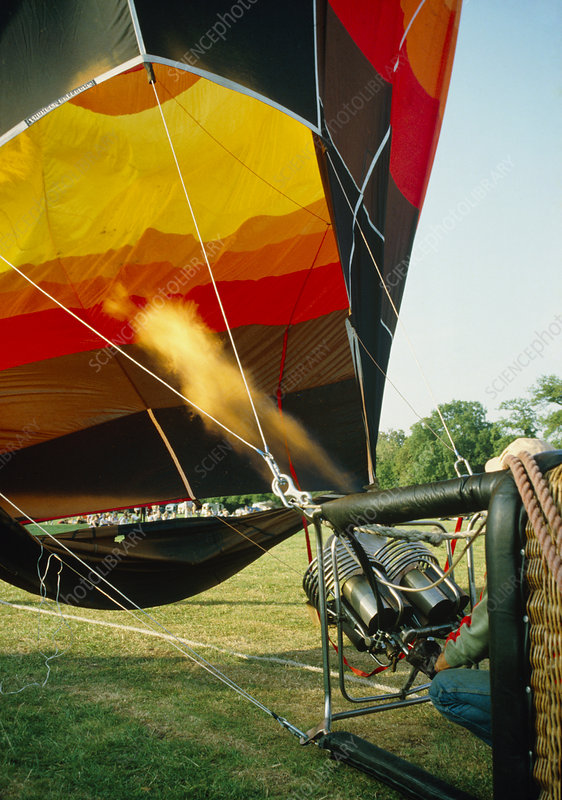 Inflation of a hot air balloon