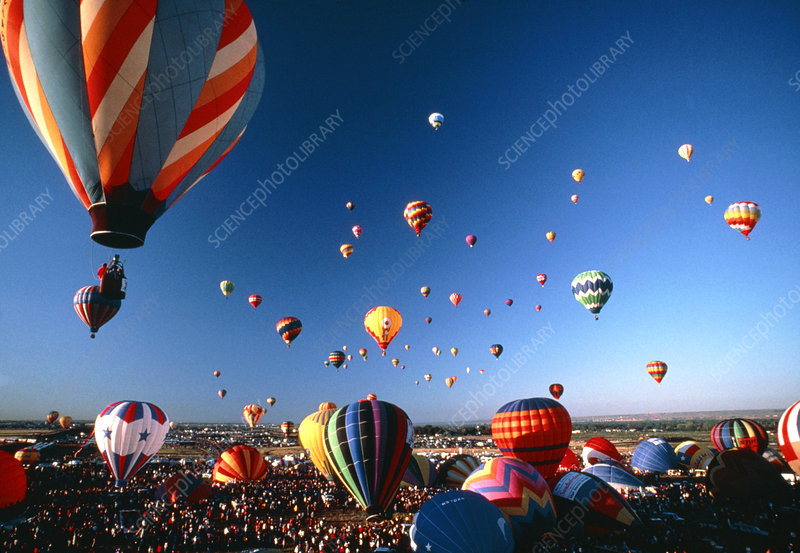 Gathering of hot air balloons,New Mexico