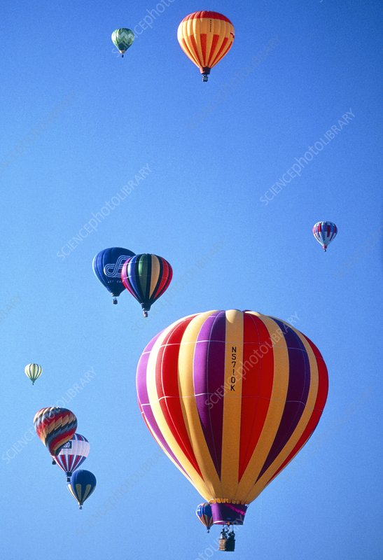Gathering of hot air balloons, Albuquerque