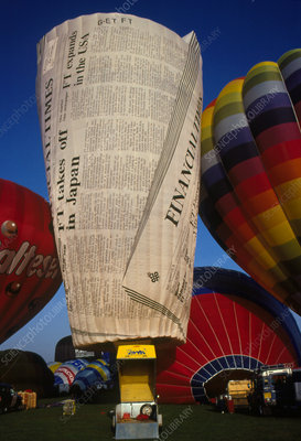 Novelty hot air balloons - Stock Image T620/0099 - Science Photo