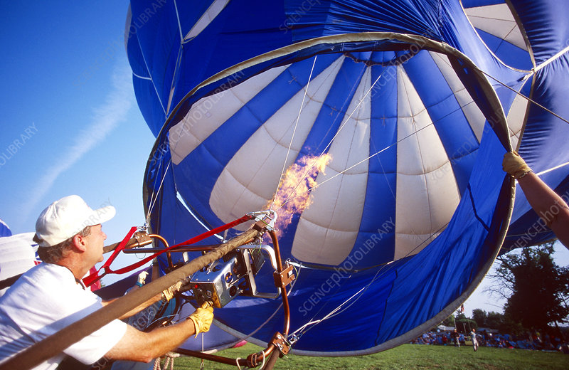 Filling a Hot Air Balloon With Air