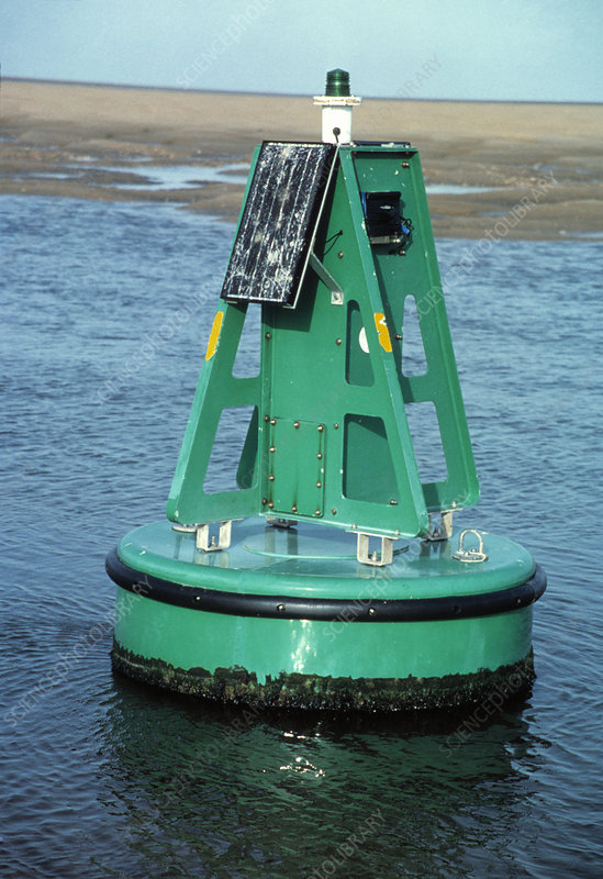 Solar powered navigation buoy