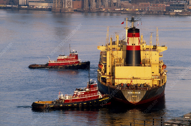 Tug boat and tanker, East River, NYC
