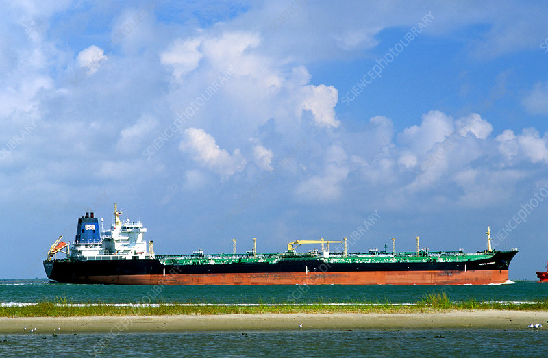 Oil Tanker in Galveston Bay, Texas