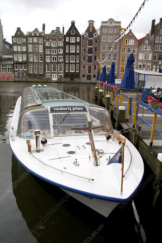 Boat On A Canal Stock Image T640 0275 Science Photo Library