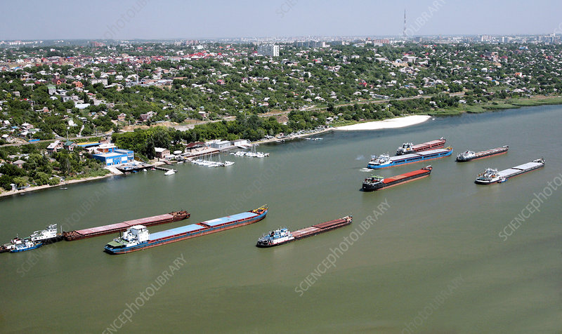 Cargo barges, Don River, Russia