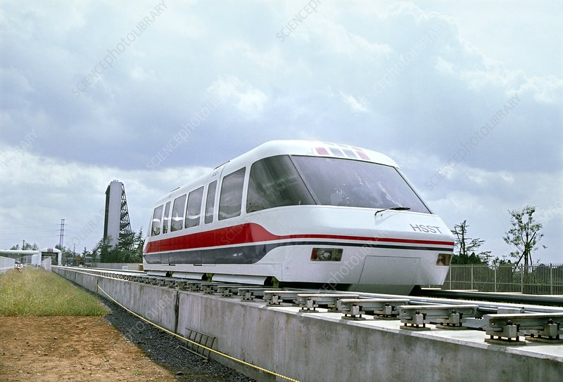 Test run of MLU-002 maglev train