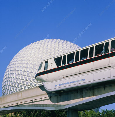 Monorail at Disney EPCOT centre, Florida