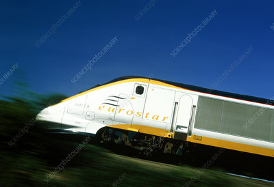 View of a Eurostar Channel Tunnel train
