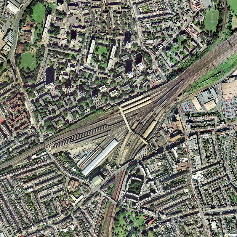 Clapham Junction station, aerial image