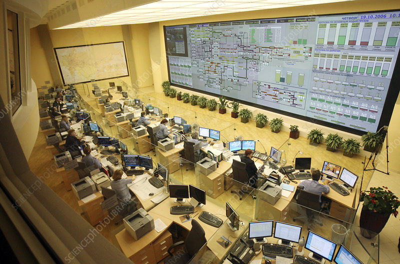 Railway network control room