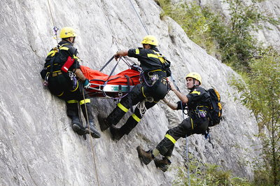 Mountain rescue workers