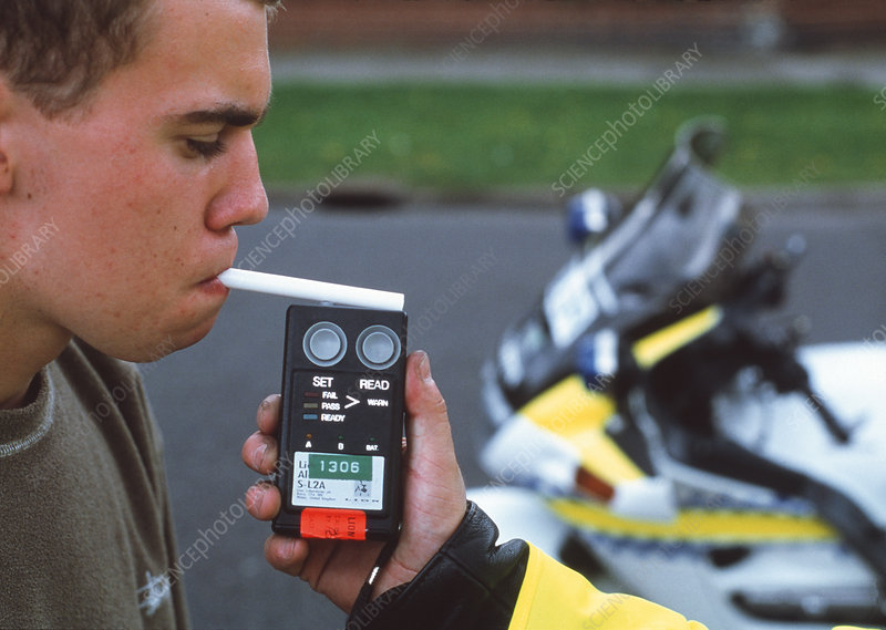 Alcohol breath test