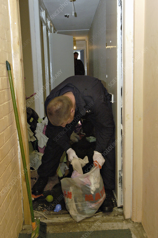 Police searching a flat