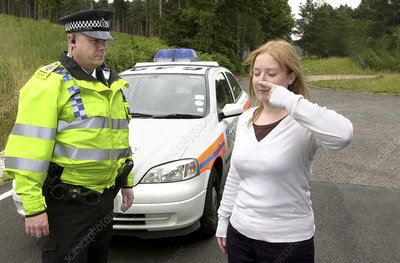 Roadside sobriety test