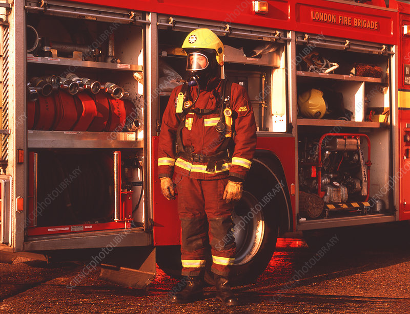 Firefighter and equipment