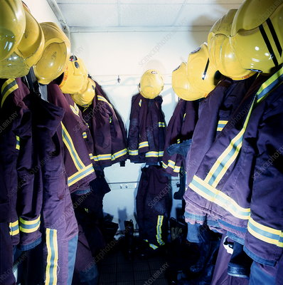 Firefighters' cloakroom