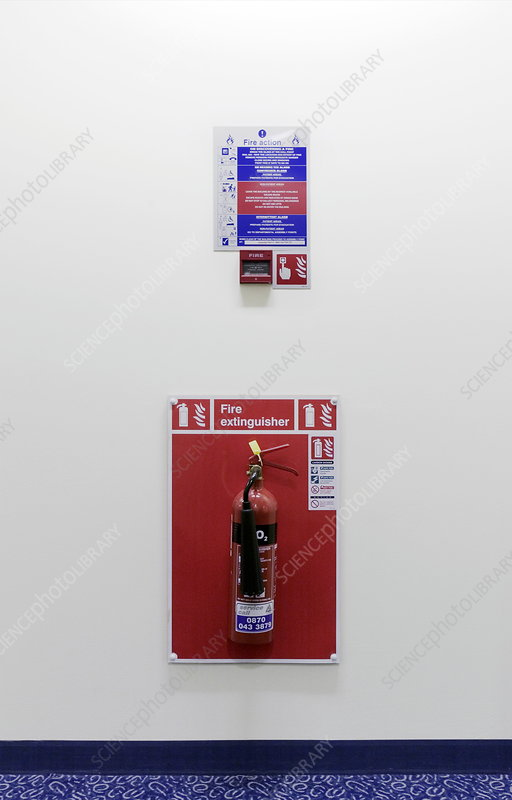 Fire alarm and extinguisher